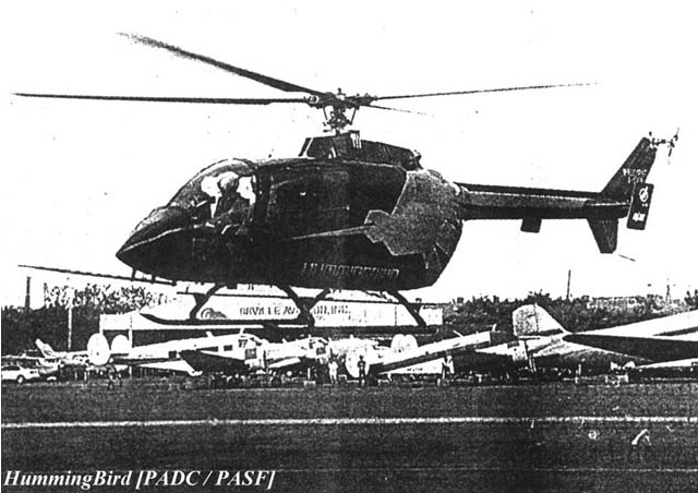 PADC Hummingbird helicopter