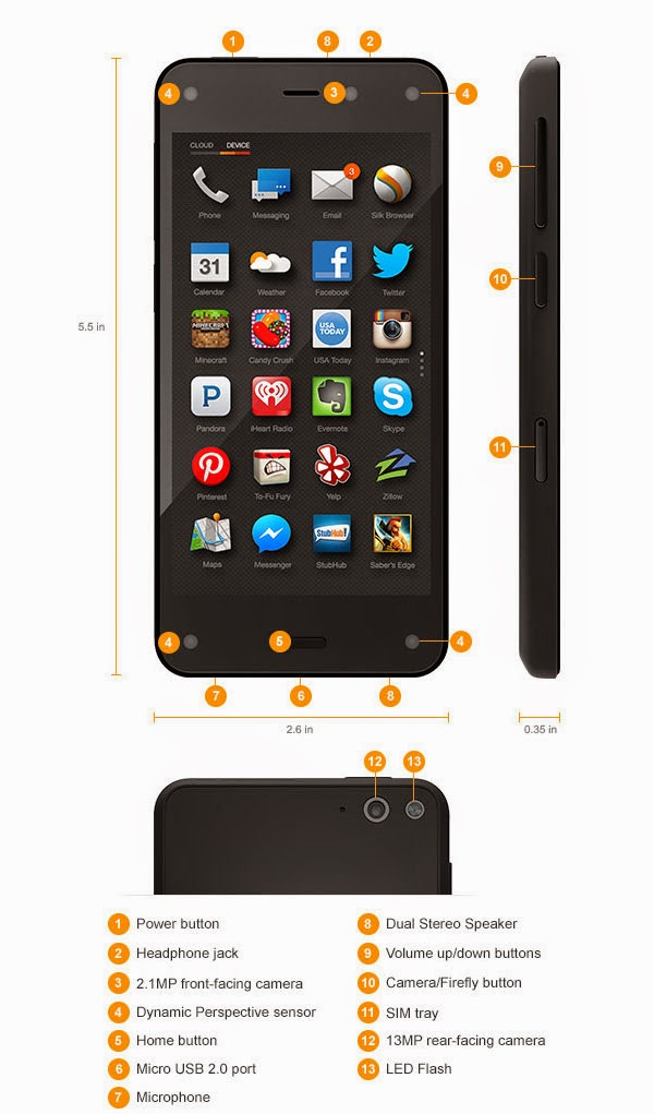 Amazon Fire Phone - hardware tour
