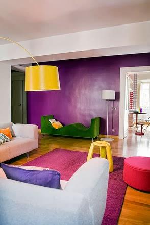 Decoración de salas coloridas - Colores en Casa
