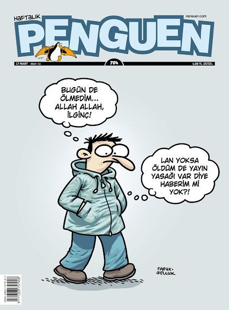 Penguen Dergisi - 17 Mart 2016 Kapak Karikatürü