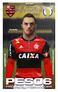 PES6|PES5|WE9 Face de Rodolfo Flamengo 2018