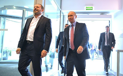 Vladimir Putin and Yandex CEO Arkady Volozh.