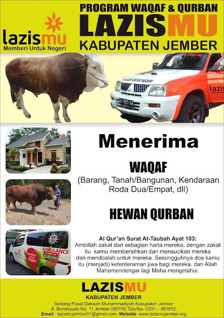 Program Waqaf dan Qurban Lazismu Jember