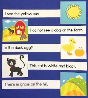 https://www.teacherspayteachers.com/Product/Farm-Sentence-Picture-Match-Reading-Center-1666758