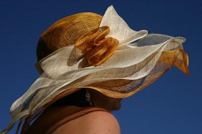 Viaggiatrice single con cappello