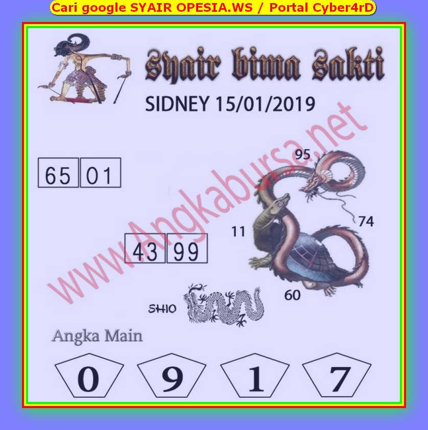 Kode syair Sydney Rabu 15 Januari 2020 56