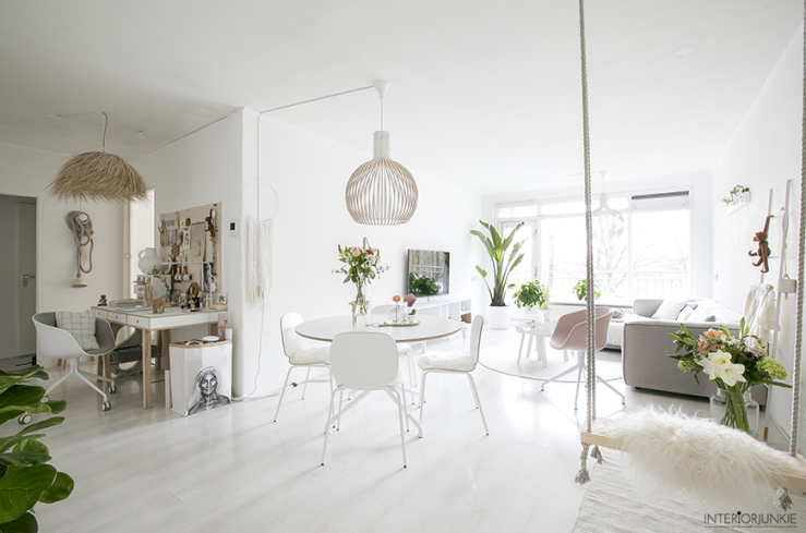 A White Dutch House Full Of Pastel Shades, Natural Materials, Soft Fabrics  And A Romantic Scandinavian Style With A Peaceful And Fresh Atmosphere.