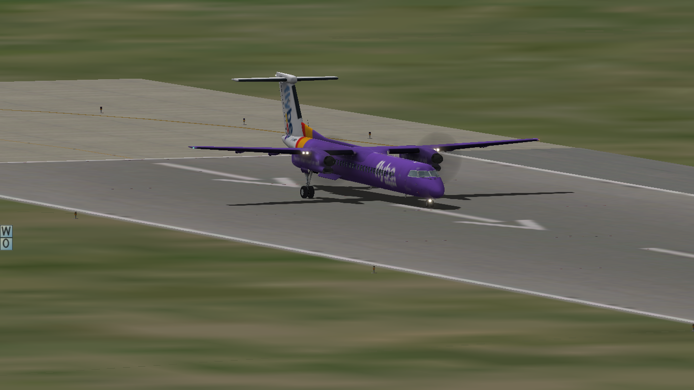 X-Plane: Flybe livery for FlyJSim Dash 8-Q400