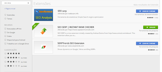 Pesquisa Google SEO SERP