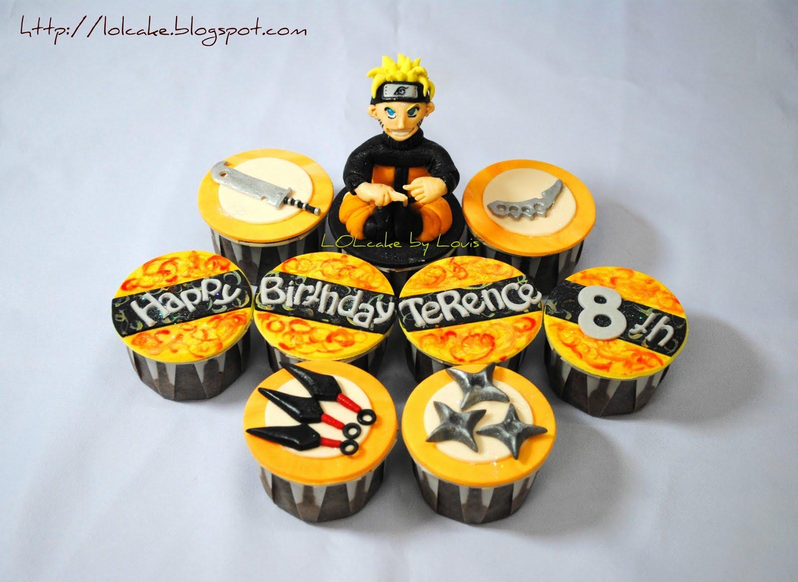Naruto cupcakes Anime cake, Naruto birthday, Naruto
