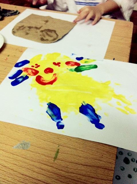 Cat Finger Painting : finger, painting, JezebelleArt:, Finger, Paint