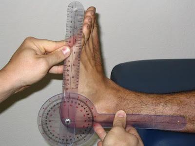 pengukuran goniometri pada plantar ankle kedua