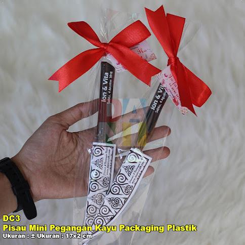 Pisau Mini Pegangan Kayu Packaging Plastik