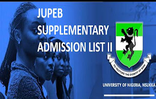 UNN JUPEB 2018 Supplementary Admission List II