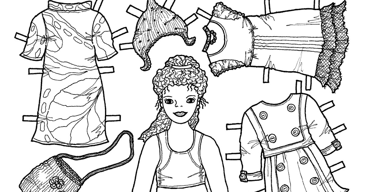 Karen`s Paper Dolls: Caroline 1-6 Paper Doll to Colour