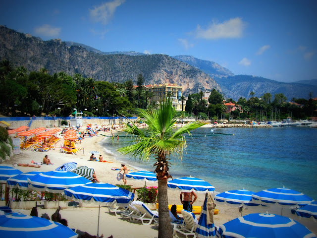 Beach on Cote D'Azur, French Riviera, France