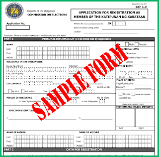 SK elections registration form