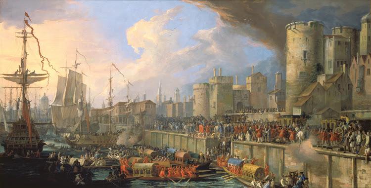 Luca Carlevarijs - Einzug der venezianischen Gesandten in London 1707