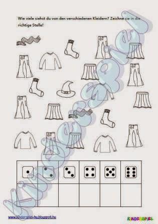 kinderspiel zahlen kleider1. Black Bedroom Furniture Sets. Home Design Ideas