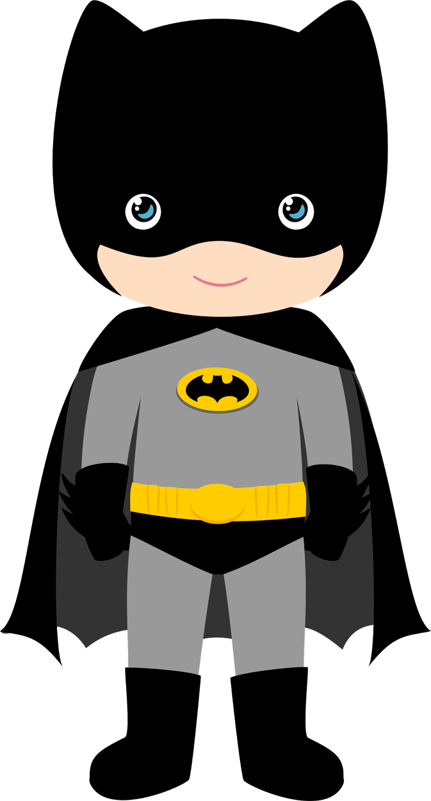 Characters of Batman Kids Version Clip Art. - Oh My Fiesta ...