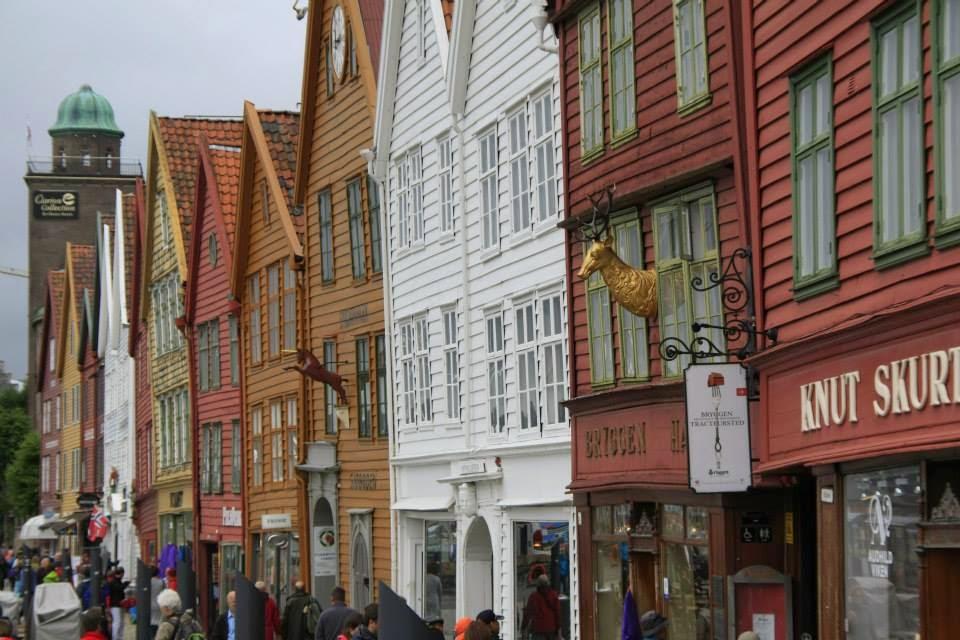 Casco viejo de Bergen.