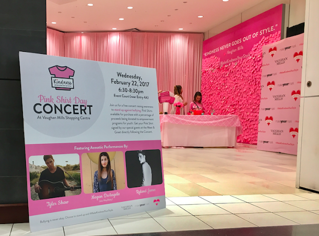 Pink Shirt Day Concert featuring Tyler Shaw, Megan DeSantis and Ryland James