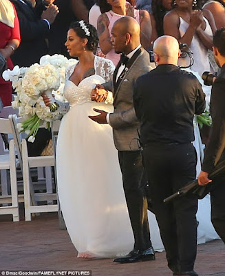 photo neyo and Crystal Renay wedding ceremony