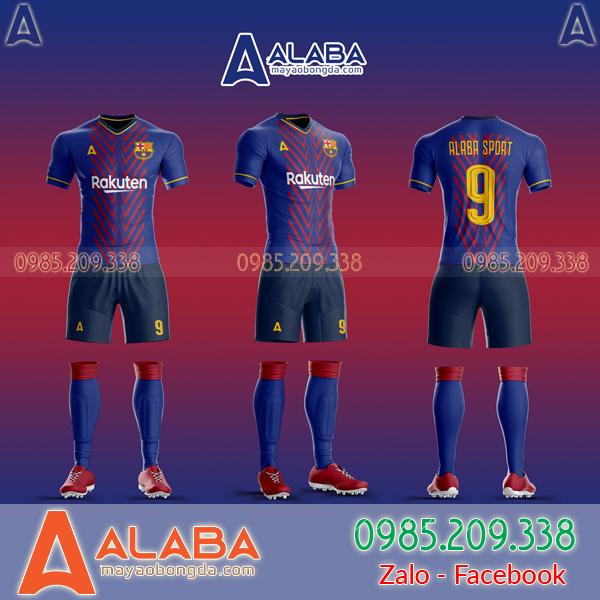 Áo Barca tự thiết kế đẹp 2019 mã ALB BA08