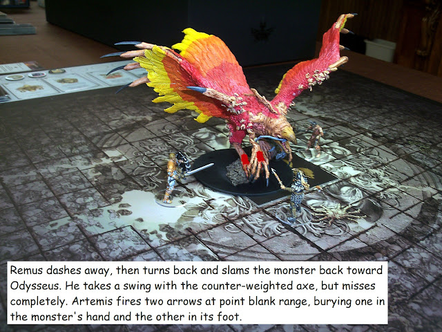 Kingdom Death Monster showdown Phoenix level 2