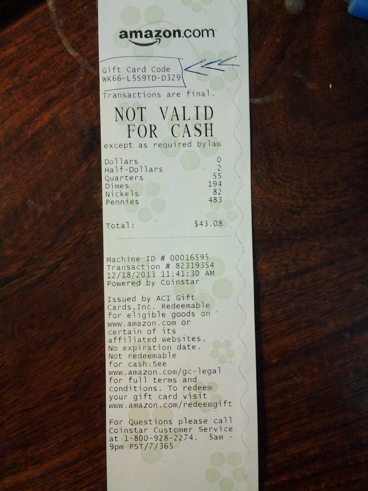Coinstar Another Cash For Christmas Idea Loudoun County Limbo