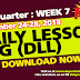 WEEK 7 -2nd Quarter DLL (September 24- September 28, 2018) ALL GRADES Updated!!