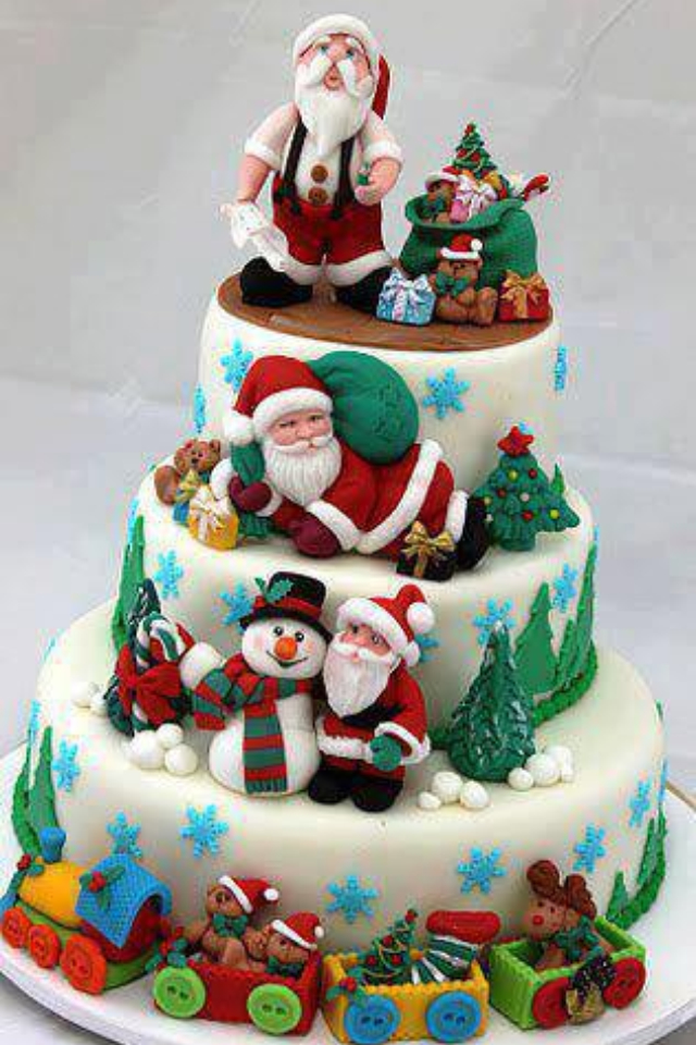 10 Amazing Santa Claus Cake Designs For Christmas - Easy ...