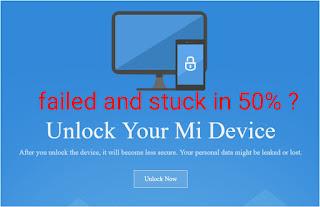 Cara mengatasi mentok di 50℅ saat proses unlock bootloader atau UBL HP XIAOMI