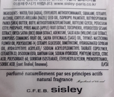 Ingredientes de la crema All Day All Year de Sisley