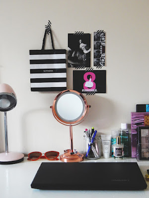 Bedroom Tour Part Two || How I Styled My Up-Cycled Desk (desk overview)