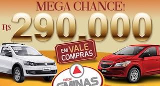 Promoção Rede GMinas 2016 Mega Chance Carros Vale-Brindes