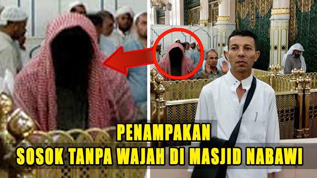 TERUNGKAP..Ternyata Sosok Manusia Tanpa Wajah Di Masjid Nabawi Yang Hebohkan Sosmed Adalah......