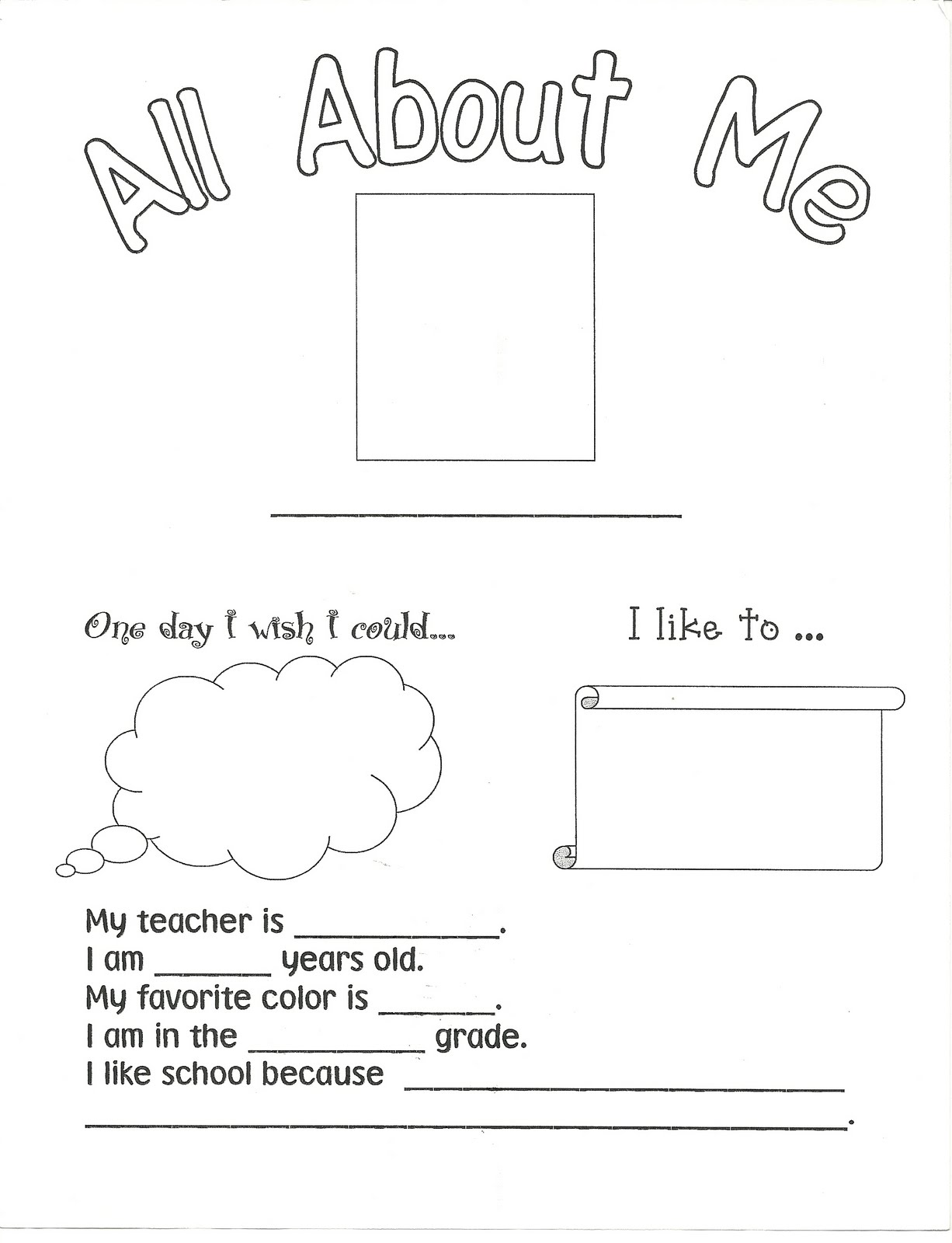 Child Centered Teaching All About Me