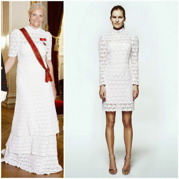 Crown Princess Mette Marit wore Pia Tjelta by TiMo Lace Dress