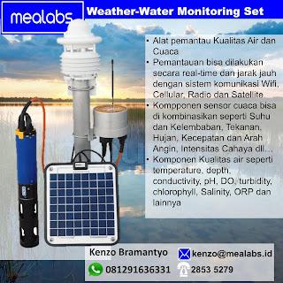 Stasiun Pemantau Cuaca dan Kualitas Air. Data Logger dan Remote Monitoring