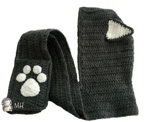 Gorro gato a crochet