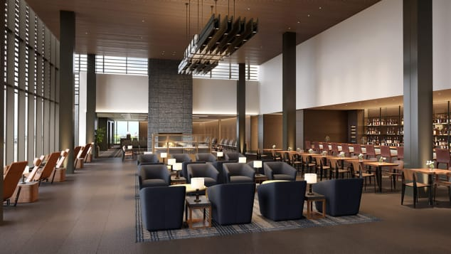 The waiting room in Paine Field might remind some passengers of an elite-access lounge.