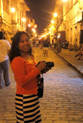 Girl Travel in Calle Crisologo, Vigan