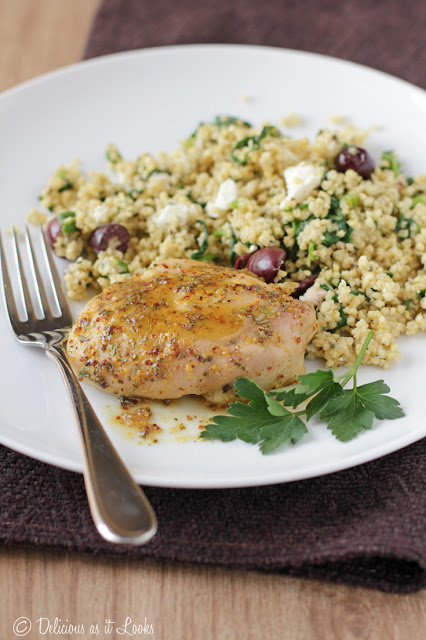 Low-FODMAP Maple-Mustard Baked Chicken  /  Delicious as it Looks