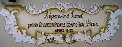 placa decorativa para igreja