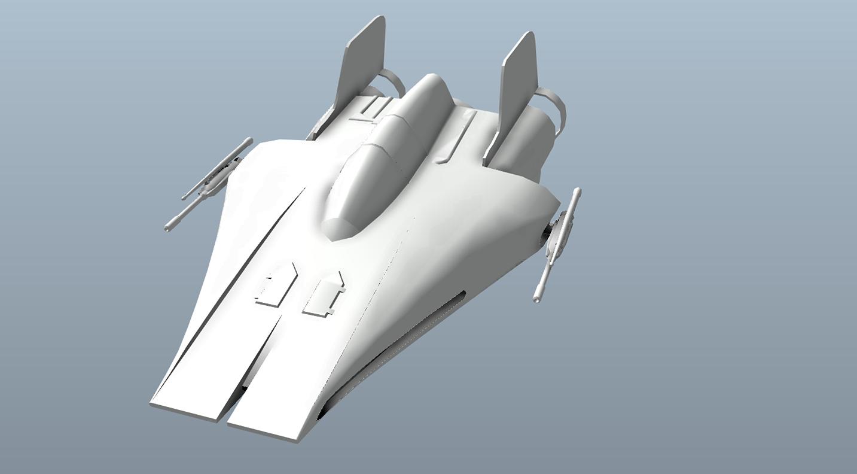 Big Star Wars OBJ Giveaway - A-wing 3d model