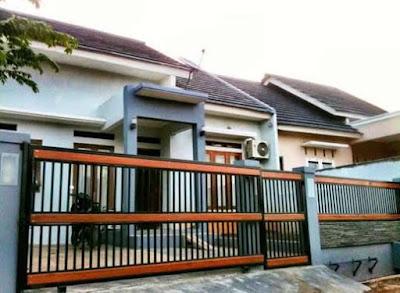 warna cat pagar rumah yang bagus hitam dan orange