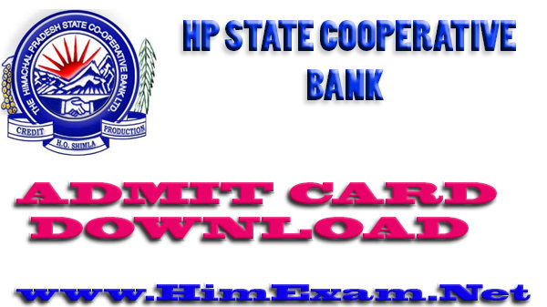 Download HPSCB Bank Admit Card for Jr. Clerk 2015