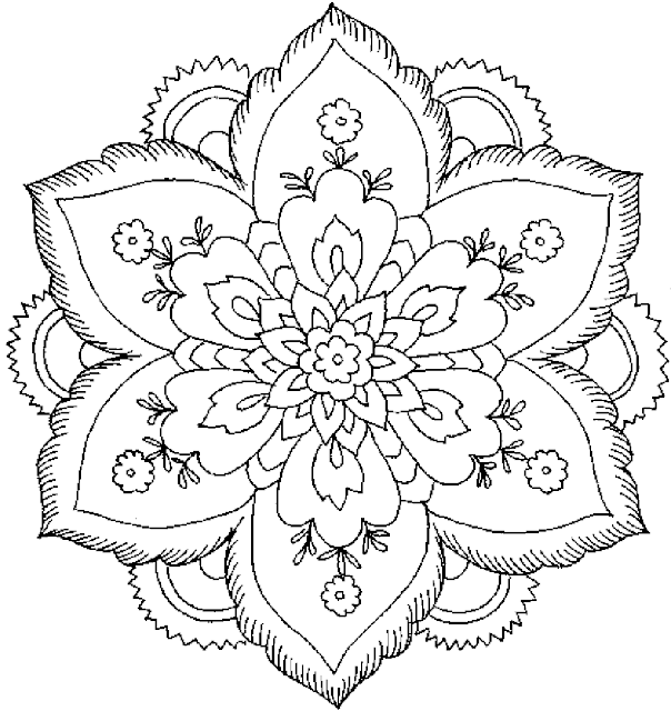 coloriage fleur adulte gratuit