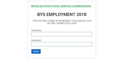 Bayelsa State Civil Service Commission Recruitment 2018 Applicants  Login